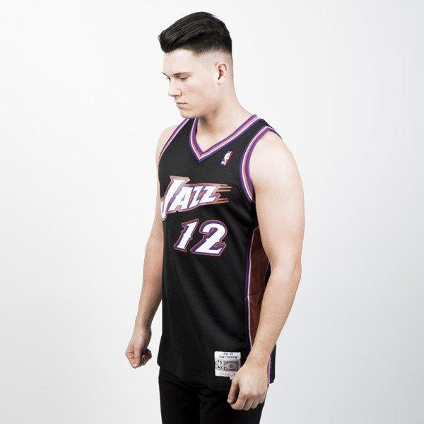 ... Mitchell   Ness Utah Jazz  12 John Stockton black pink Swingman Jersey  ... 2ee4f27c5