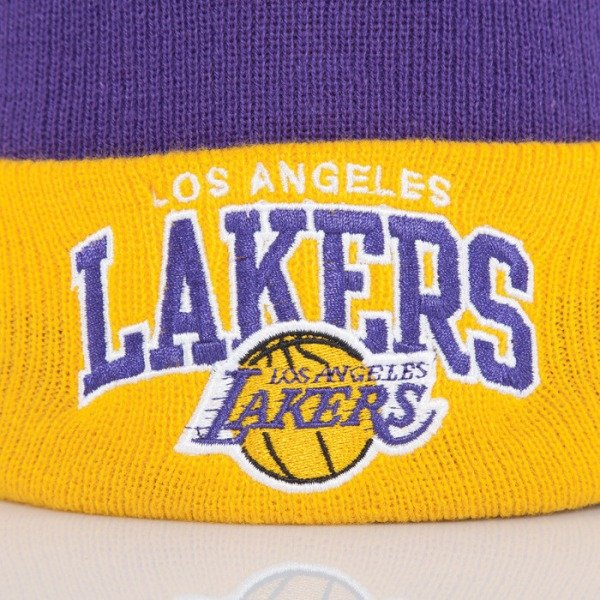 Mitchell & Ness beanie Los Angeles Lakers purple Arched Cuff Knit EU349