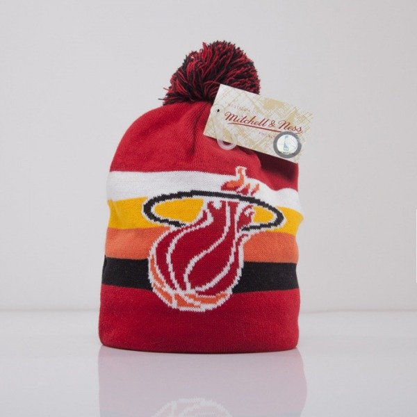 Mitchell & Ness beanie Miami Heat red Boost Team Color Long KL75Z