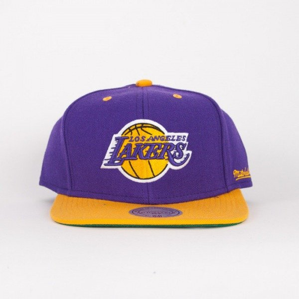 Mitchell & Ness cap Los Angeles Lakers violet / yelow  Flipside