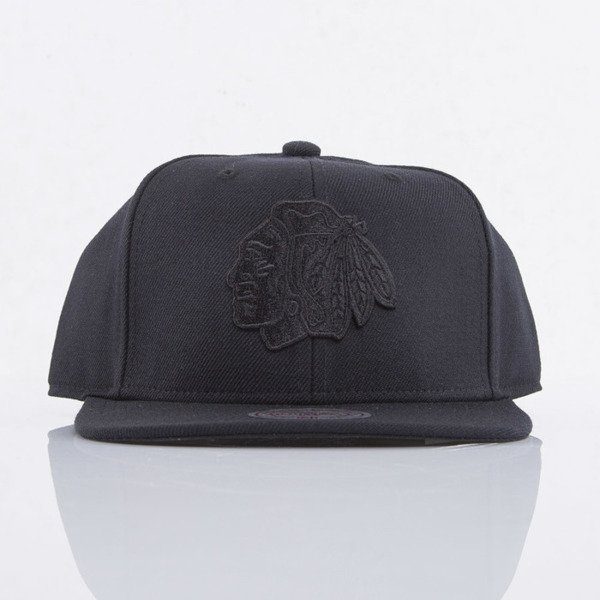 Mitchell & Ness cap snapback Chicago Blackhawks black All Black EU788