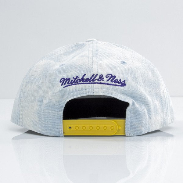 Mitchell & Ness cap snapback Los Angeles Lakers blue Light Acid Washed VE98Z