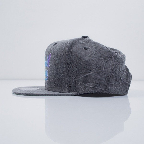 Mitchell & Ness cap snapback M&N Logo charcoal Crease Tringle Script  VE81Z