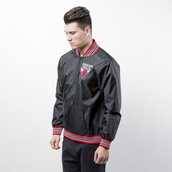 Mitchell & Ness jacket Chicago Bulls black 1/4 Zip Nylon Pullover