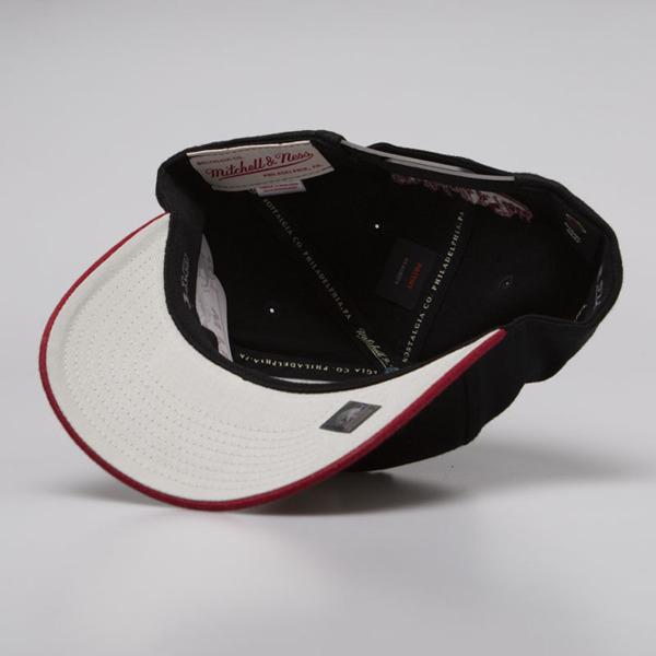 save off c3257 c2add Mitchell   Ness snapback Miami Heat black   burgundy 2 Tone 110 ...