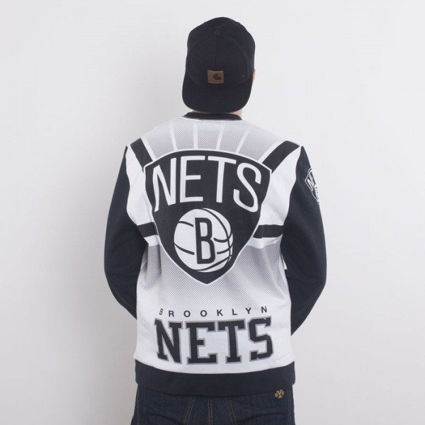 Mitchell & Ness sweatshirt Brooklyn Nets Crewneck white Stop On A Dime
