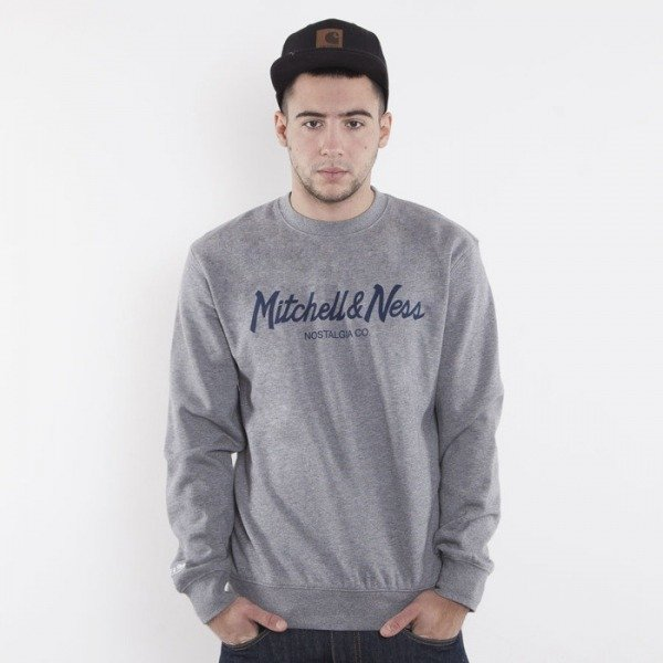 Mitchell & Ness sweatshirt Mitchell&Ness grey / navy crewneck Special Script