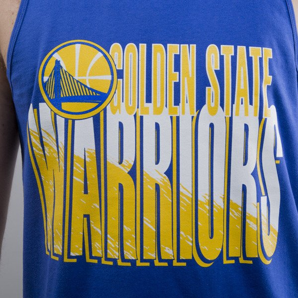 Mitchell & Ness tank top Golden State Warriors royal Scribble Fill
