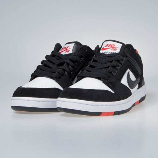Nike Air Force II Low black/black-white-hebanero red (AO0300-006)