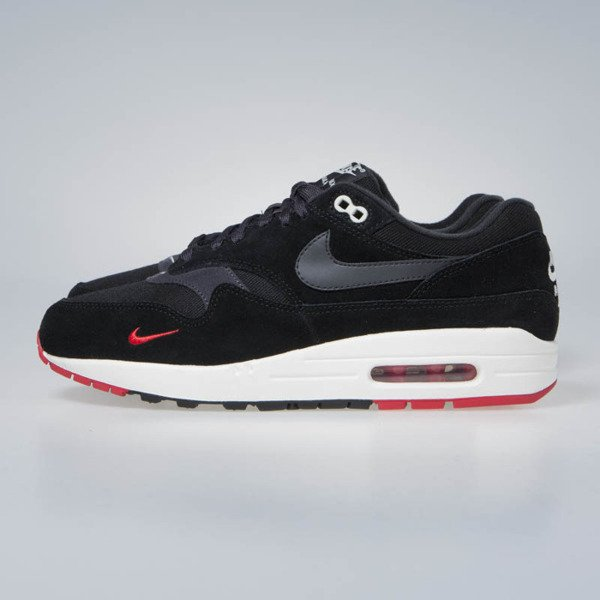 Nike Air Max 1 Premium black/oil grey-university red (875844-007)