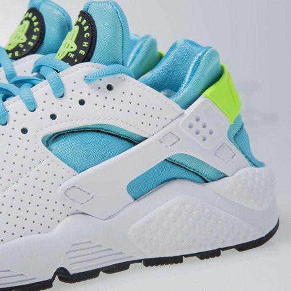 65f633bec4ed5 ... Nike WMNS Air Huarache Run white   gamma blue-elctrc green (634835-109  ...