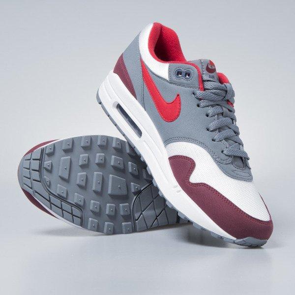 Nike sneakers Air Max 1 white university red cool grey AH8145 100