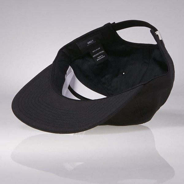 Obey Half Face 6 Panel Hat black