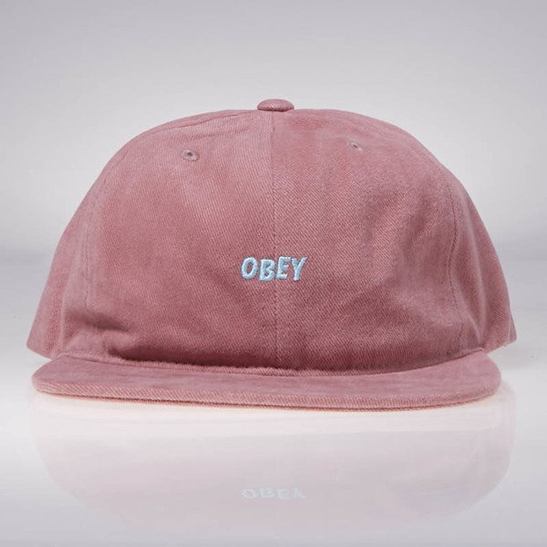 Obey New Deal 6 Panel Hat dusty red