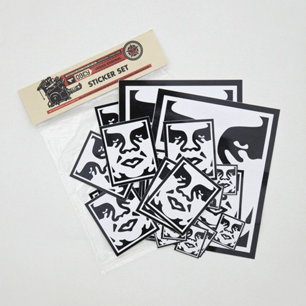 Obey Sticker Set black