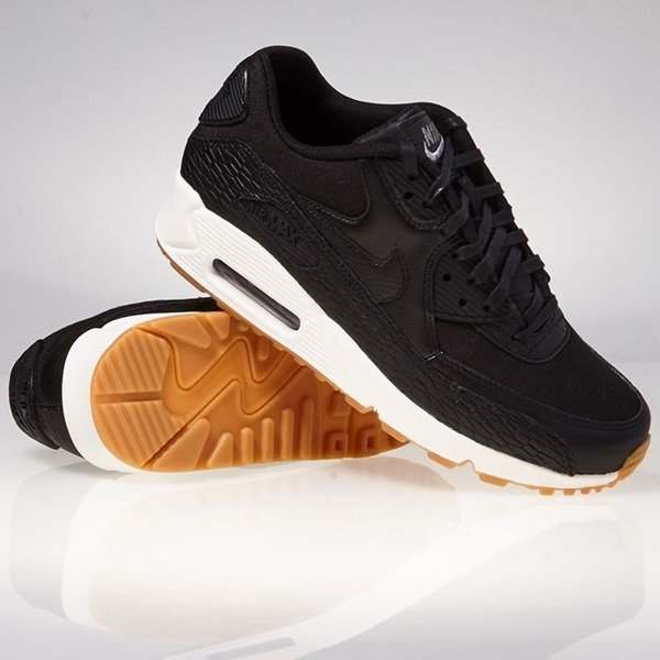 bbc0d3a1a528 ... Sneakers Nike WMNS Air Max 90 Premium Leather black   black-dark  grey-ivory ...