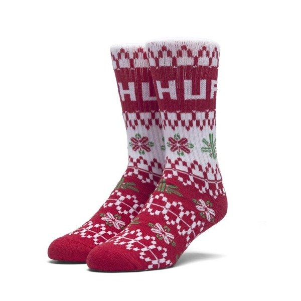 Socks HUF Holiday Sweater Sock - red