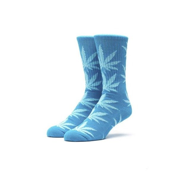 Socks HUF Melange Plantlife Crew Sock blue / heather blue