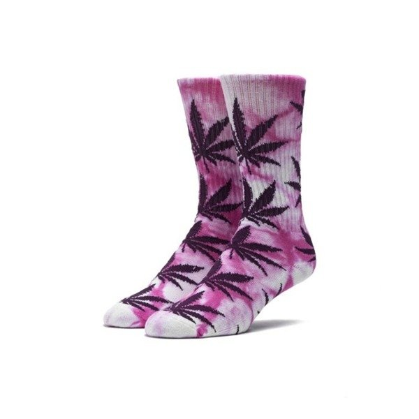 Socks HUF Tiedye Plantlife Crew Sock pink / purple