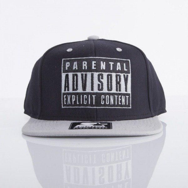 Starter cap Parental Advisory 2Tone Logo PA-002 black / grey