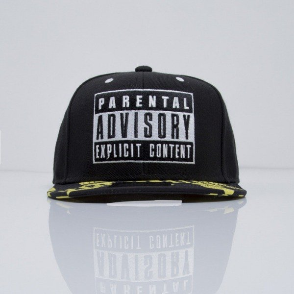 Starter cap Parental Advisory Core Logo SB black / yellow (PA-016)