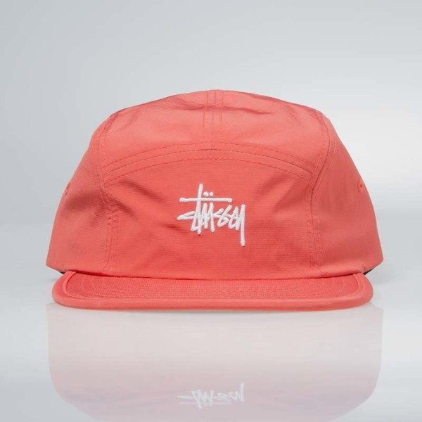 Stussy 5Panel Micro Ripstop Camp Cap red