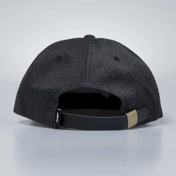 7dfeb2a61825e ... Stussy Melange Denim Strapback Cap black ...