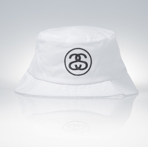 Stussy bucket hat SS Link white