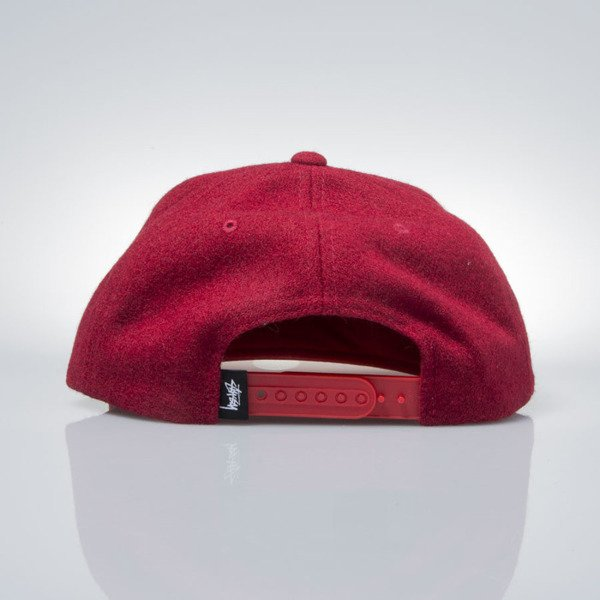 Stussy snapback Smooth Stock Melton Wool Cap red
