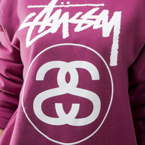 Stussy sweatshirt Stock Link Crew grape WMNS