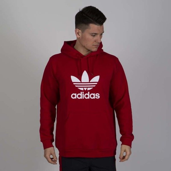 adidas Originals 3 Stripes FZ Hoodie Power Red | Footshop