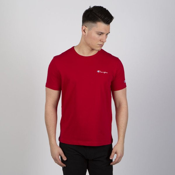 T-shirt Champion Logo Reverse Weave red