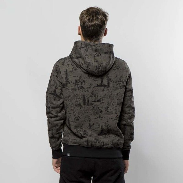 The North Face Sweatshirt Drew Peak Pullover Hoodie black ink green / toile de jouy T0AHJYXFZ