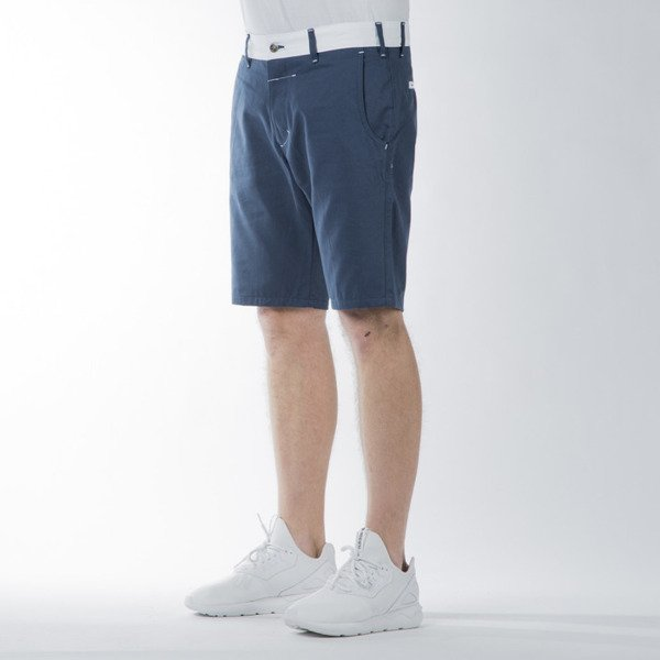 Turbokolor Chino Shorts ocean blue / white SS16