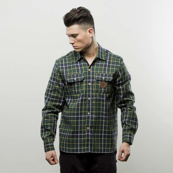 Turbokolor Shirt Flannel Earth Scottish Tartan green