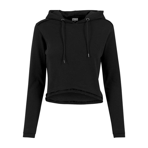 Urban Classics Ladies Cropped Terry Hoody WMNS black