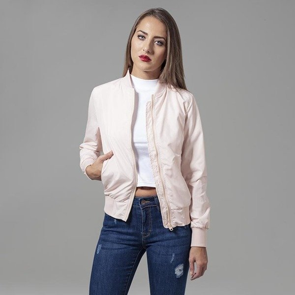 Urban Classics Ladies Light Bomber Jacket WMNS light pink