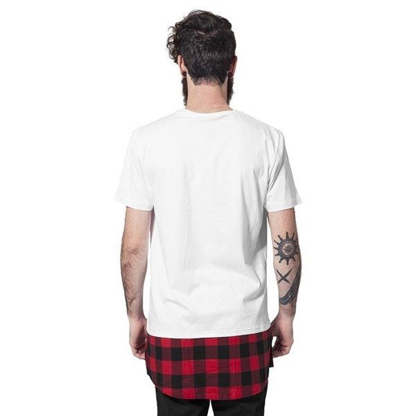 Urban Classics Long Shaped Flanell Bottom Tee black / black / red