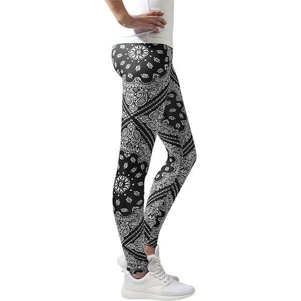 Urban Classics Smoke Ladies Bandana Leggings WMNS black / white