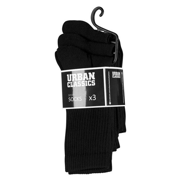 Urban Classics Sport Socks 3-Pack black