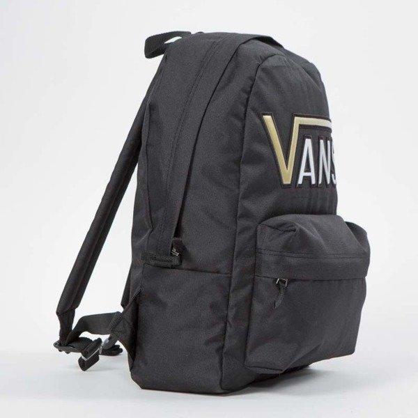 c26831a35c ... Vans Realm Flying V Backpack black   gold VN0A34GHB5T ...
