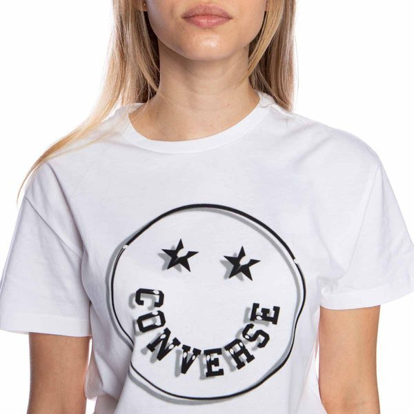 WMNS T-shirt Converse H.Camper Smiley RLX Tee white