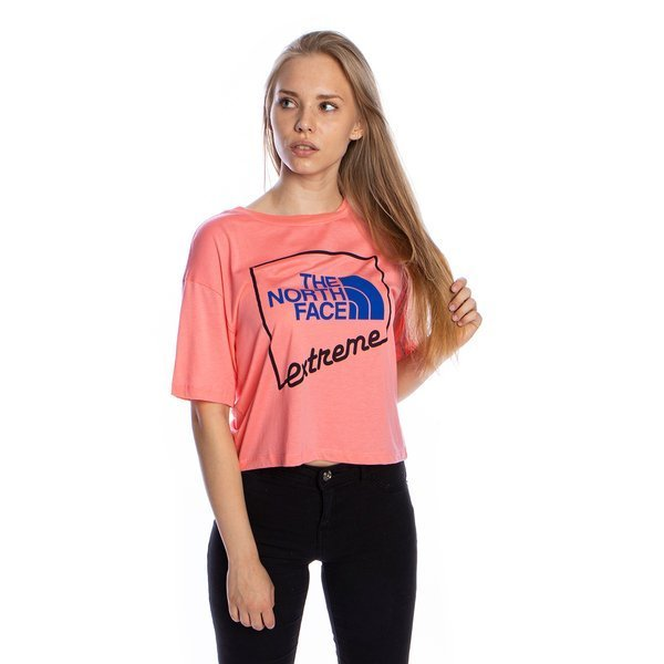 WMNS T-shirt The North Face SS Extreme Crop Tee miami pink