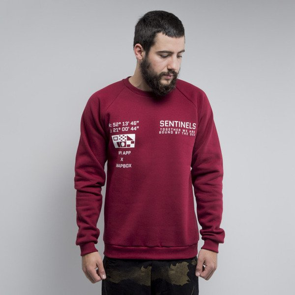 We Peace It Sentinels Crewneck burgundy