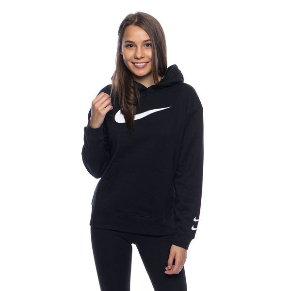 Women Sweatshirt Nike W NSW Swoosh Hoodie FT black