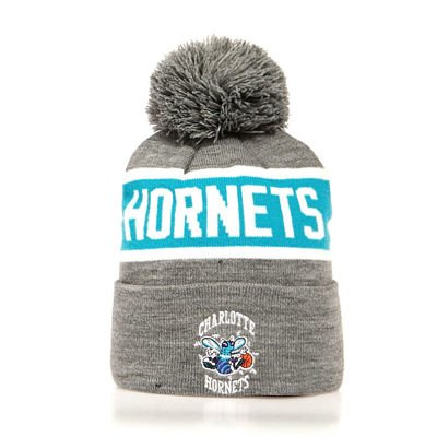 Mitchell & Ness Charlotte Hornets Beanie grey/teal Team Tone Knit