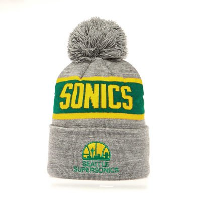 Mitchell & Ness Seattle Supersonics Beanie grey/green Team Tone Knit