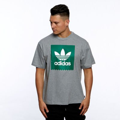 T-shirt Adidas Originals Solid BB Tee core heather/bold green