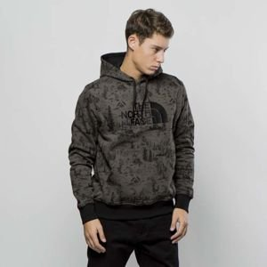 Bluza The North Face Sweatshirt Drew Peak Pullover Hoodie black ink green / toile de jouy T0AHJYXFZ