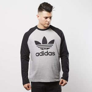 Adidas Originals koszulka longsleeve Trefoil Tee medium grey heather / black BR2021